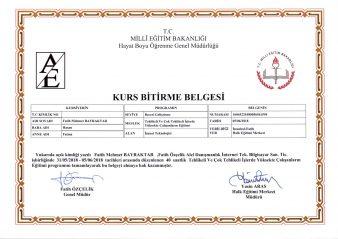 Yüksekte Calışma Eğitim Belgesi Fatih Mehmet Bayraktar